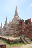 Ruined Old Temple, Ayutthaya, Thailand, Royalty Free Stock Photos