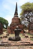 Ruined Old Temple, Ayutthaya, Thailand, Royalty Free Stock Images