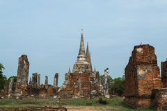 Ruined Old Temple of Ayutthaya, Thailand Stock Photo