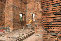 Ruined Old Temple of Ayutthaya, Thailand. Ruined Old Temple of Ayutthaya in Thailand Royalty Free Stock Photos