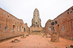 Ruined old temple build from brick Stock Photography