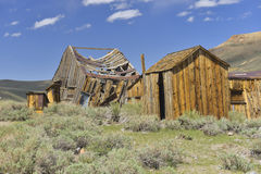 Ruined. Old Ruined Wooden House at Bodie State Historic Park, California, US stock photo