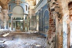 Ruined Orthodox Church. Interior shot of Abandoned Medieval Orthodox Church Royalty Free Stock Photo