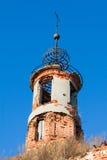 Ruined orthodoxy church royalty free stock photos