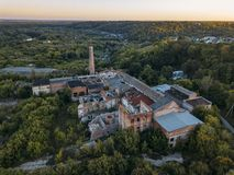 Free Ruined Overgrown Abandoned Sugar Factory In Ramon, Aerial View Royalty Free Stock Images - 156524469