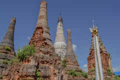 Ruined pagoda, Inle lake,. Myanmar, Burma Stock Image