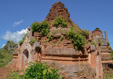 Ruined pagoda, Inle lake,. Myanmar, Burma Stock Images