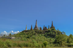 Ruined pagoda, Inle lake. Myanmar, Burma Stock Photo