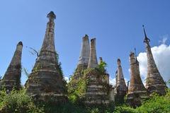 Ruined pagoda, Inle lake Royalty Free Stock Photos