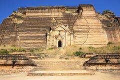 Ruined Pagoda in Mingun Paya / Mantara Gyi Paya Royalty Free Stock Photos