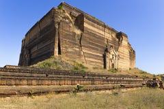 Ruined Pagoda in Mingun Paya / Mantara Gyi Paya Stock Image
