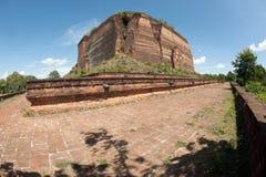 Ruined Pagoda in Mingun Paya or Mantara Gyi Paya ,Myanmar. The Mingun temple is a monumental uncompleted stupa began by King Bodawpaya in 1790. It was not Stock Image