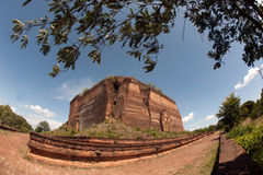 Ruined Pagoda in Mingun Paya or Mantara Gyi Paya ,Myanmar. Royalty Free Stock Images