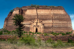 Ruined Pagoda in Mingun Paya or Mantara Gyi Paya ,Myanmar. The Mingun temple is a monumental uncompleted stupa began by King Bodawpaya in 1790. It was not royalty free stock photos