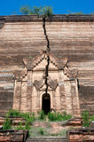 Ruined Pagoda in Mingun Paya or Mantara Gyi Paya ,Myanmar. Stock Photography