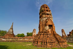 Ruined pagoda in Wat Mahathat Royalty Free Stock Images
