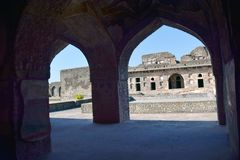 Ruined palace of Mandu. Ruins of 15th century palace in Mandu MP India royalty free stock images