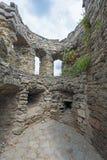 Ruined part of Kamenets-Podolsk fortress in Ukraine Royalty Free Stock Photo