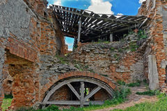 Ruined part of Medzhybizh Castle in Ukraine Royalty Free Stock Photos