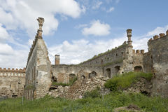 Ruined part of Medzhybizh Castle in Ukraine 2 Royalty Free Stock Image