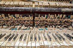 Ruined piano keyboard Royalty Free Stock Photography