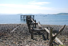 Ruined Pier Stock Photography