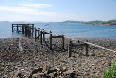 Ruined Pier at Aberdour Stock Image