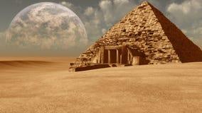 Ruined pyramid Stock Photo