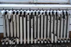 Ruined radiators Royalty Free Stock Photography