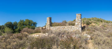 Ruined Ranch Panorama Stock Images