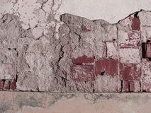Ruined Red Brick Wall Texture Royalty Free Stock Images