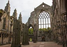 The Ruined Remains of an Abbey stock photos