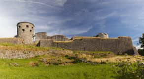 Bohus fortress Sweden. The ruined remains of Bohus fortress in Kungalv, Sweden royalty free stock photography