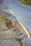 Ruined road. From the landslide Royalty Free Stock Photography