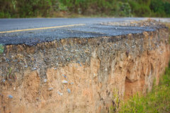 Ruined road. From the landslide Royalty Free Stock Images
