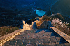 Ruined and rolling greatwall. In sunshine Royalty Free Stock Photos