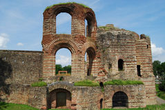 Ruined Roman ampitheatre. Ancient ruined ampitheatre, Triers, Germany Royalty Free Stock Image