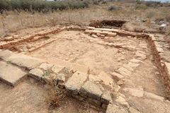 Ruined Roman villa at Aptera on Crete Stock Photos