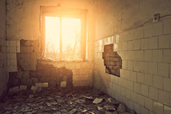 Ruined room Stock Image