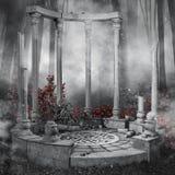 Ruined rotunda Stock Image