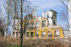 Ruined school building Royalty Free Stock Photo