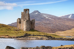 Ruined scottish castle Royalty Free Stock Image