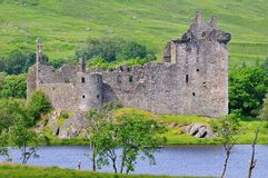 A ruined Scottish castle. Stock Photography