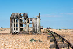 Ruined Shed and Boat Royalty Free Stock Image