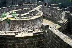 Ruined Spanish Fort. Details of a Ruined Spanish Fort at Intramuros Manila Royalty Free Stock Images