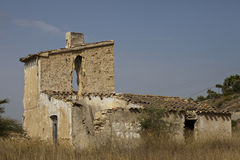 Ruined Spanish House Royalty Free Stock Images