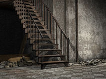 Ruined stairs Stock Photography
