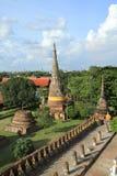 Ruined statue of buddha, Ayuthaya, Thailand. Royalty Free Stock Photo