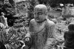 Ruined statue Ksitigarbha Bodhisattva Stock Photography