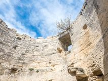 Ruined architecture in Les Baux-de-provence Stock Photos